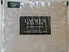 RALPH LAUREN 100% Cotton DUNHAM SATEEN 300TC DOVE GRAY FULL SHEET SET NEW
