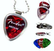 PICKBAY Guitar PICK Holder Pendant w Bigger Ball Chain Necklace NEW Gift Set