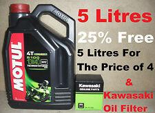 5L LTR MOTUL 5100 10W40 OIL AND KAWASAKI 160970008 FILTER CHANGE ZX-7R 00 2000