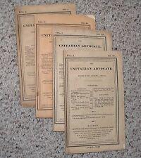 RARE SET OF THE UNITARIAN ADVOCATE VOLUME I , NO'S 1-IV 1828  VINTAGE RELIGION