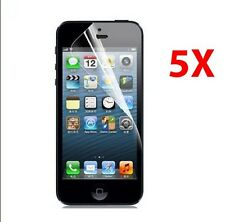 5X Apple iPhone 5C 5S Clear LCD Screen Protector Guard Covers Films