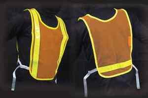 Jogalite Cross Training Reflective Vest Orange Mesh Run Bike Triathelete