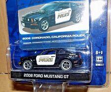 GREENLIGHT HOT PURSUIT 2 2008 FORD MUSTANG GT CORONADO CALIFORNIA CA 2009