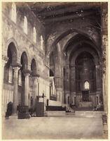Monreale Palermo Il Duomo Foto originale all'albumina 1880c XL427