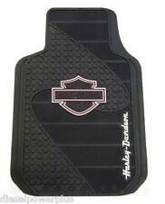 harley davidson motorcycle floor mats pink b&s shield rubber car truck auto hd