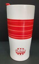 Tim Hortons ceramic travel coffee tumbler mug 2015 red stripe Limited Edition