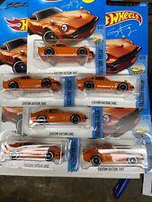 2017 HotWheels (lot Of 6 Cars) Custom Datsun 240Z In Orange