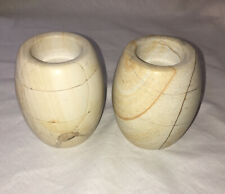 Reversed 2 in 1 sized Marble Candle holders Both Weigh 3lb 9.7oz 4� long