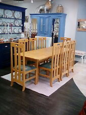 NEW PRICE!!  MacIntosh inspired table and 8 chairs Arts and Crafts