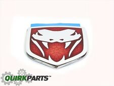 2004-2006 Dodge Viper Red And Chrome Emblem Decal Ornament OEM NEW MOPAR GENUINE