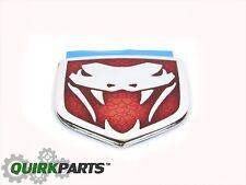 2004-2006 Dodge Viper Red And Chrome Emblem Decal Ornament OEM NEW MOPAR GENUINE