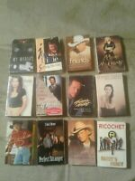 Country Music Cassette Single Lot of 12 Shania Twain, Emilio, Brooks and Dunn
