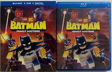LEGO DC BATMAN FAMILY MATTERS BLU RAY DVD 2 DISC SET + SLIPCOVER SLEEVE BUY IT