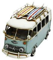 Vintage Hand Painted Camper Van Metal Ornament Decorative Sculpture
