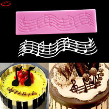 Music Note Lace Silicone Fondant Mold Cake Sugarcraft Decorating Chocolate Mould