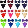Men Satin Silk Solid Color Bowtie Bow Tie Handkerchief Pocket Square Hanky Set