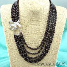 """FC042111 17/"""" Natural 13mm Round Garnet Necklace"""