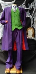 Deluxe,The Joker 'Heath Ledger' inspired Suit with vest, shirt, tie, wig and ...