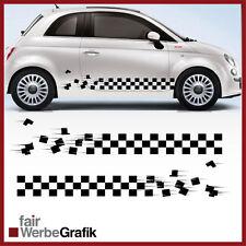 2 Stück Set Fiat Sticker Style Punto 500 Dekor Aufkleber Seitenstreifen #107