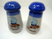 Vintage Souvenir Florida Salt and Pepper Shakers Snail and Shell Design