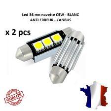 2 ampoule Navette LED C5W 36mm ANTI ERREUR CANBUS plafonnier plaque 6000k