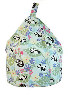 Child Size Purple Panda Bean Bag With Beans By Bean Lazy