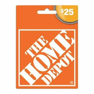 Home Depot $25 Gift Card Electronic (Valid online and in store)