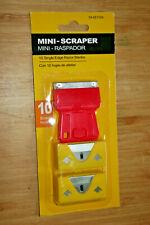 Mini Glass Paint Safety Plastic SCRAPER Box Razor 10 Blades Single Edge
