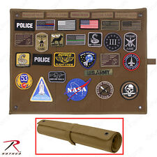 Rothco Hook & Loop Morale Patch Board - Hanging Roll-Up Insignia Accessory Board