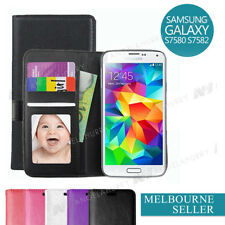 PU Leather Wallet Case Cover For Samsung Galaxy S Duos 2 S7582 Trend Plus S7580