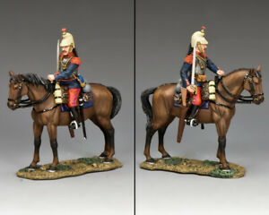 KING & COUNTRY FIRST WAR FW222 WW1 FRENCH CUIRASSIER MOUNTED WITH SWORD DRAWN