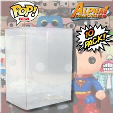 "10 PREMIUM 4"" FUNKO POP VINYL BOX PROTECTOR PROTECTIVE CASES COVER CRYSTAL CLEAR"