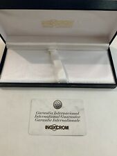 VINTAGE INOXCROM LARGE PEN BOX -EXCELLENT USED CONDITION-BOX & GUARANTEE CARD.