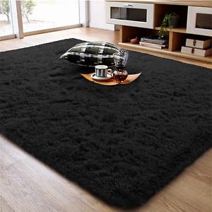 Fluffy Area Rug Shag Faux Long Fur Non Slip Carpet Bedroom Living Floor Mat 4x6
