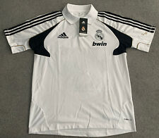 REAL MADRID ADIDAS NWT POLO SHIRT PLAYER ISSUED with BWIN MEN MEDIUM