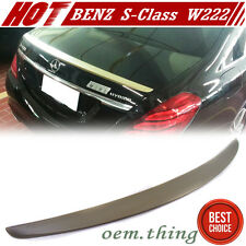 NEW PAINTED MERCEDES BENZ S-Class W222 4DR REAR TRUNK SPOILER ABS S320 S550 16+