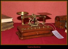 Fabulous collection vintage POSTAL LETTER SCALE BALANCE w WEIGHTS and DRAWER 70s