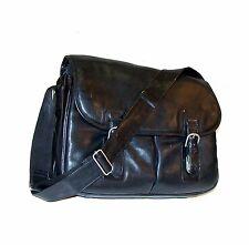 "LODIS Elements 15"" Soft Leather Business Bag / Messenger Briefcase ~ Ret.: $400"