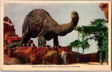 Sinclair Dinosaur Exhibit at Chicago World's Fair c1933 Vintage Postcard O12