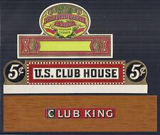11 Vintage Cigar Box Labels, Unused - Brooks, Frings Bros, Havana, Blue Ribbon*