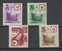 ESPAÑA - EDIFIL 1066/69 (1949) MNH NUEVOS SIN FIJASELLOS - SERIE COMPLETA LOTE 1