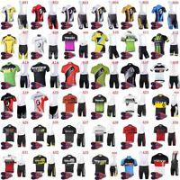 New 2019 Men's Cycling Bib Kit MTB Bike Jersey and Padded Cycling Bib Short Set
