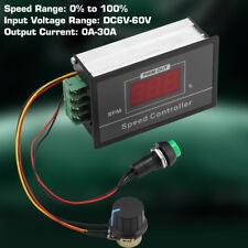 DC 6-60V 12V 24V 36V 48V 30A PWM DC Motor Velocidad Controlador Start/Stop