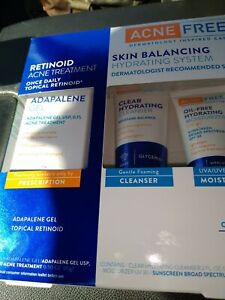 AcneFree Skin Balancing Hydrating System w/ Adapalene Gel 3 Piece Kit x08-2021