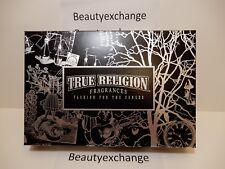 True Religion For Men Cologne Eau De Toilette Spray Body Wash Deodorant Gift Set