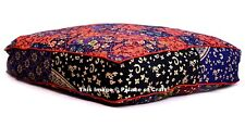 "Indian Mandala Floor Pillow Tapestry Dog Bed Square 35"" Patchwork Cushion Cover"