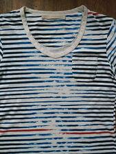 HANS UBBINK BLUE men's top t-shirt size S