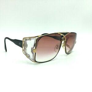 Vtg 80s CAZAL Mod 955 Col 302 Black Gold Sunglasses Frame Germany READ DESCRIPTI