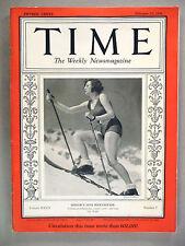 Time Magazine - February 17, 1936 ~ Hitler's Leni Riefenstahl