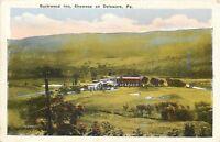 Shawnee on Delaware Pennsylvania~Birdseye Buckwood Inn~1920s